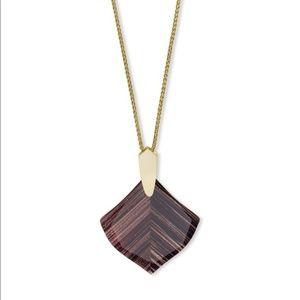 Kendra Scott Aislinn Brown Dusted Glass Necklace